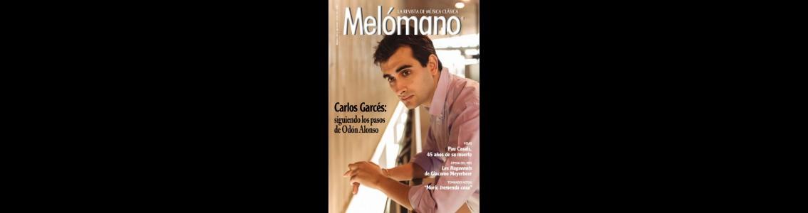 Portada de la Revista «Melómano» Septiembre 2018